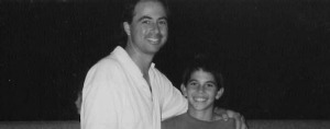 Founder, Brett Novek,  as a child with his dad.