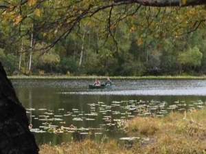 Little Campbell Lake, Kincaid Park.  Be VERY careful; the moose are dangerous!