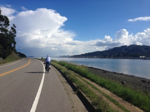 Tiburon Bike Path with Views of Sausilito and San Francisco, CA