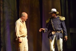 Carl Lumbly and Ted Speros in The Emperor Jones