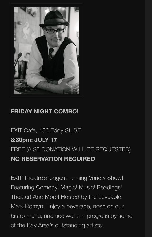 Friday Night Combo at the Exit Theatre