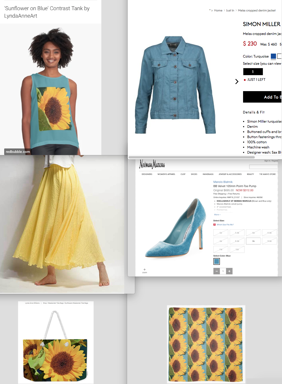 Lynda Anne Recommends Sunflower Tank, Tote, and Scarf